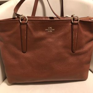 Coach tote leather bag